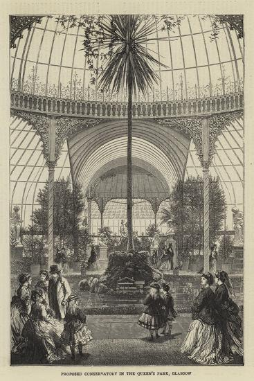 Proposed Conservatory in the Queen's Park, Glasgow--Giclee Print