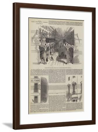 Proposed Electric Message Delivery Telegraphs in the London Streets--Framed Giclee Print