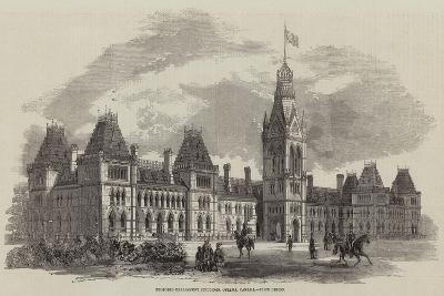 Proposed Parliament Buildings, Ottawa, Canada, Prize Design--Giclee Print