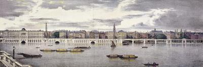 Proposed View of the River Thames, London, 1825-Thomas Mann Baynes-Giclee Print