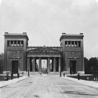 Propylaen, Munich, Germany, C1900-Wurthle & Sons-Photographic Print