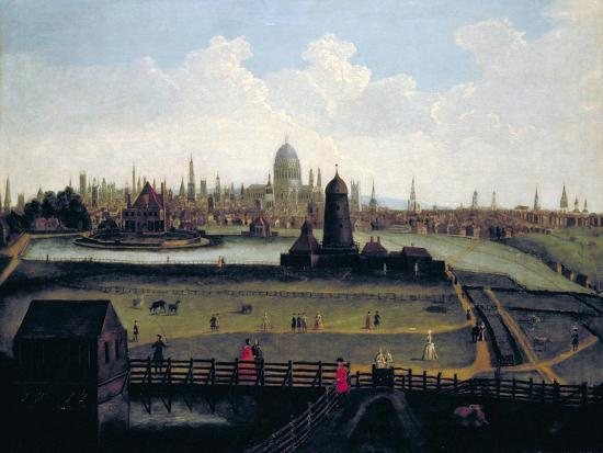 Prospect of the City from the North, London, C1730--Giclee Print