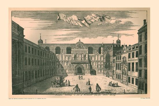 Prospect of the London Guild Hall,1755, (1886)-Unknown-Giclee Print