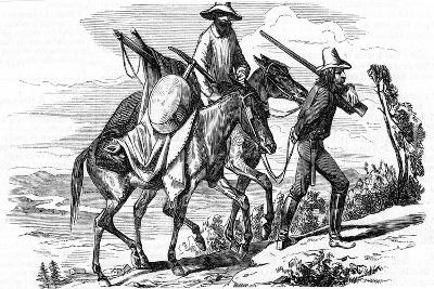 Prospectors on their Way to the Californian Gold Fields, 1853--Giclee Print