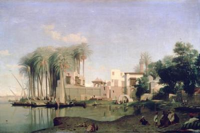 Beni Suef on the Nile, 19th Century by Prosper Georges Antoine Marilhat
