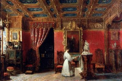 Princess Marie D?Orléans (1813-183), Duchess of Württemberg, in Her Atelier by Prosper Lafaye