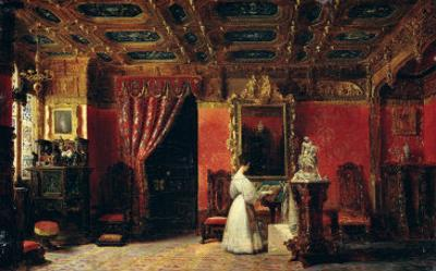 Princess Marie D'Orleans in Her Gothic Studio in the Palais des Tuileries, 1836 by Prosper Lafaye