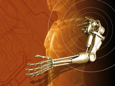 Prosthetic Robotic Arm, Computer Artwork-Victor Habbick-Photographic Print