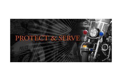 Protect and Serve-Jim Baldwin-Art Print