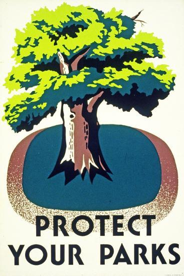 """Protect Your Parks"" 1938--Giclee Print"