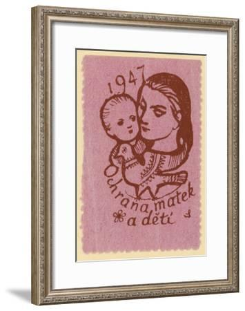 Protection of Mothers and Children, 1947--Framed Giclee Print