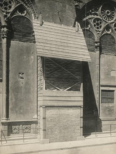 Protection of One of the External Niches of Orsanmichele During the First World War, Florence-Giuseppe Giani-Photographic Print