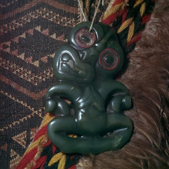 Protective Maori amulet, 19th century-Unknown-Giclee Print