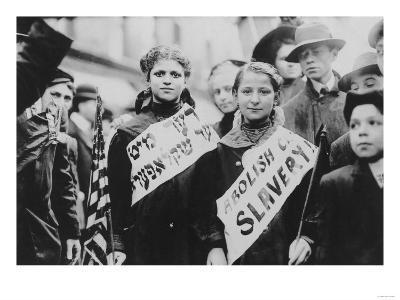Protest Against Child Labor in Labor Parade Photograph - New York, NY-Lantern Press-Art Print