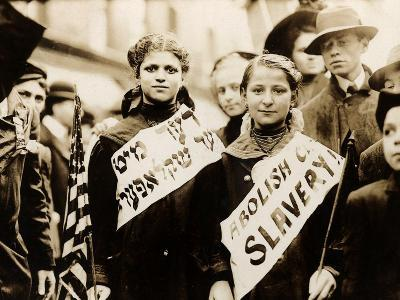 Protest against Child Labor, New York, 1909--Photo