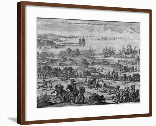 Protestants Leaving France-Jan Luyken-Framed Giclee Print