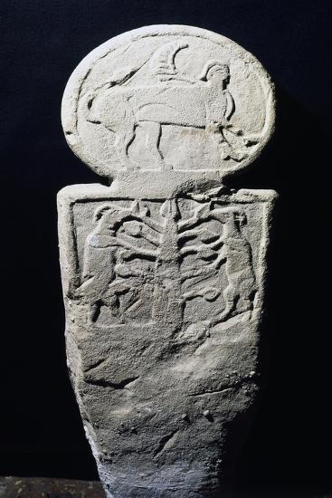 Proto-Felsinean Funerary Stele, 8th-7th Century BC--Giclee Print