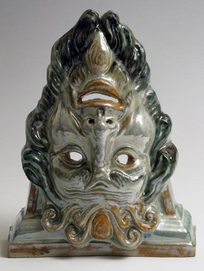 Protome or Decorative Masks, Ceramic--Giclee Print