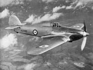 Prototype Hawker Hurricane Being Test Flown by Flight Lieutenant Pws Bulman, C1935