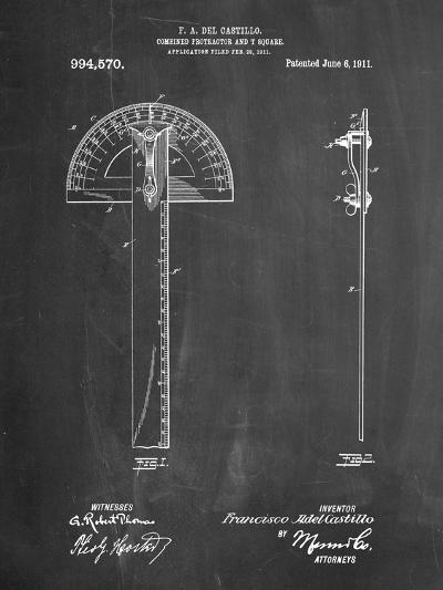 Protractor T-Square Patent-Cole Borders-Art Print
