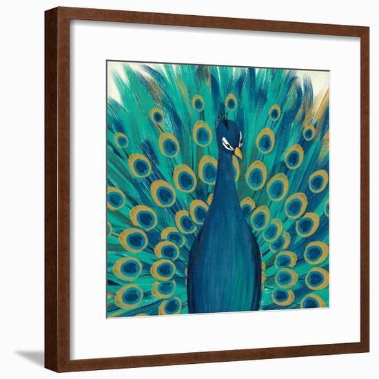 Proud as a Peacock I-Veronique Charron-Framed Art Print