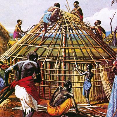 Proud Giants of Africa: the Batushi-English School-Giclee Print