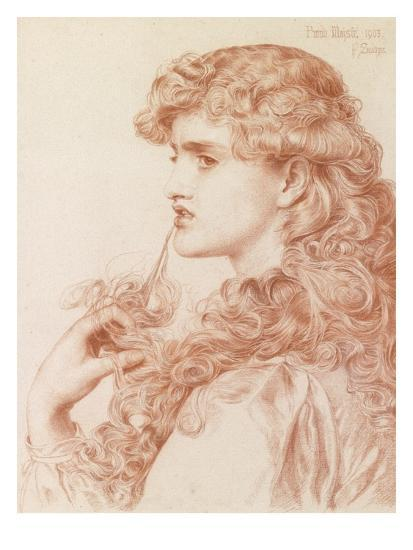 Proud Maisie, 1903 (Pencil and Red Chalk on Paper)-Anthony Frederick Augustus Sandys-Giclee Print