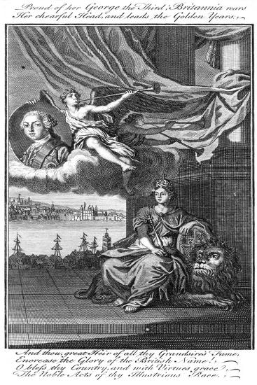 Proud of Her George Iii; Britannia Rears Her Chearful Head, and Leads the Golden Years--Giclee Print