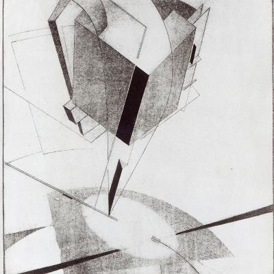 Proun 5 A, 1919-El Lissitzky-Giclee Print