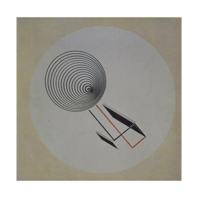 Proun 93. Floating Spiral, 1924-El Lissitzky-Giclee Print