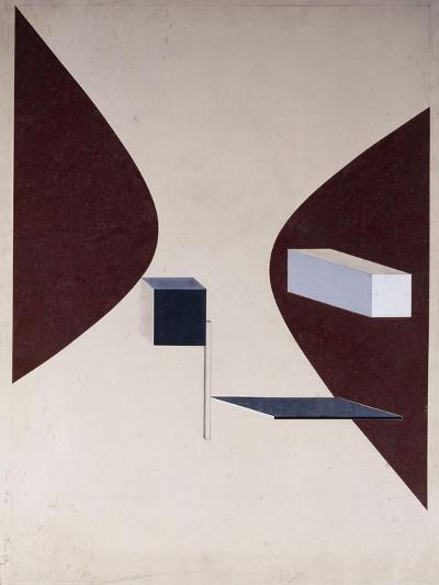 Proun N 90 (Ismenbuch), 1925-El Lissitzky-Giclee Print