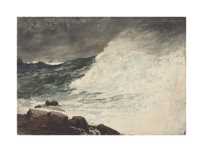 Prout's Neck, Breaking Wave, 1887-Winslow Homer-Giclee Print