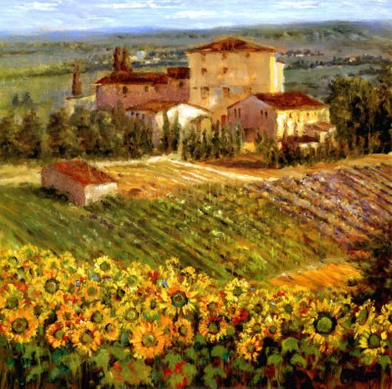 Provencal Village III-Michael Longo-Art Print