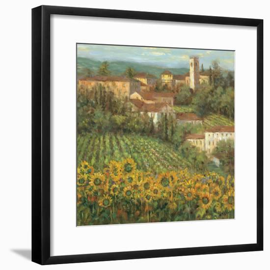 Provencal Village IV-Michael Longo-Framed Premium Giclee Print