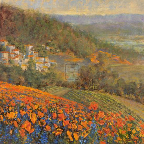 Provencal Village IX-Michael Longo-Art Print