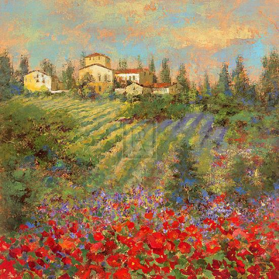 Provencal Village XII-Michael Longo-Art Print
