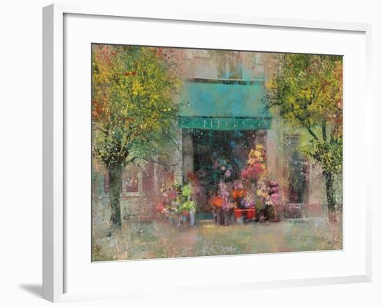 Provence Flower Shop-Eric Yang-Framed Art Print