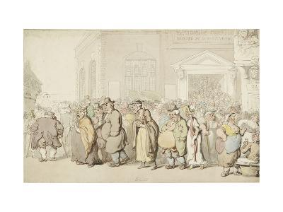 Providence Chapel (Pen and Black and Brown Ink and Watercolour, over Faint Indications in Graphite)-Thomas Rowlandson-Giclee Print