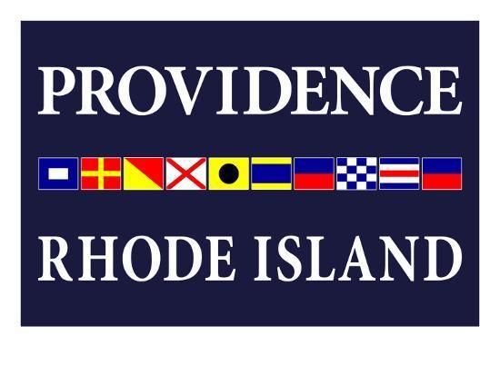 Providence, Rhode Island - Nautical Flags-Lantern Press-Art Print