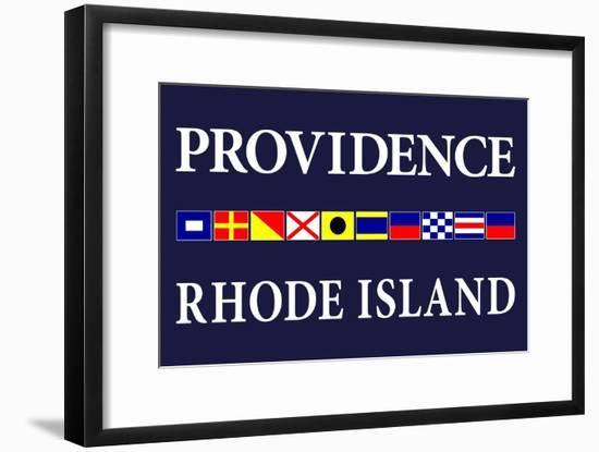 Providence, Rhode Island - Nautical Flags-Lantern Press-Framed Art Print