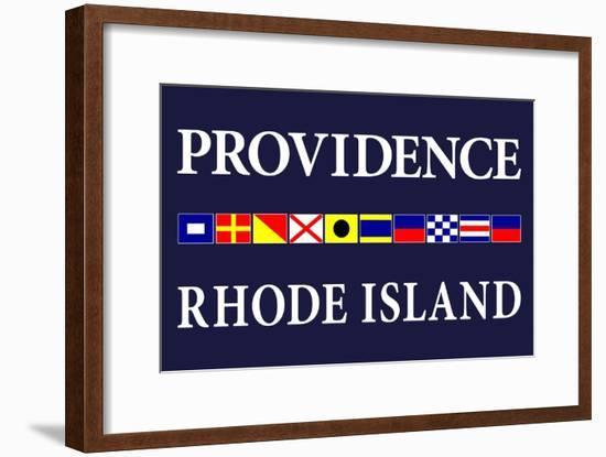 Providence, Rhode Island - Nautical Flags-Lantern Press-Framed Art Print