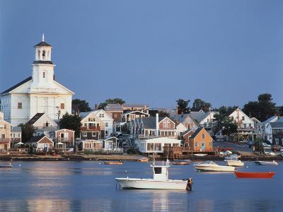 Provincetown Harbor and Town, Cape, Cod, Massachusetts, USA-Walter Bibikow-Photographic Print