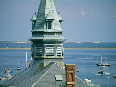 Provincetown Harbor with Town Hall in the Foreground-Michael Melford-Photographic Print