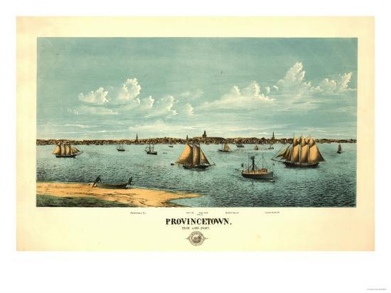 Provincetown, Massachusetts - Panoramic Map-Lantern Press-Art Print