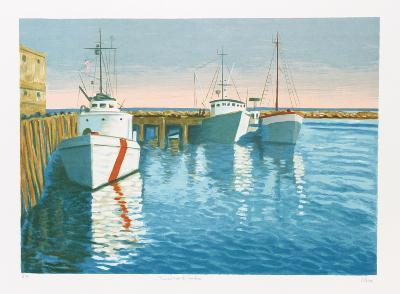 Provincetown - The Harbor-Laurent Salinas-Collectable Print
