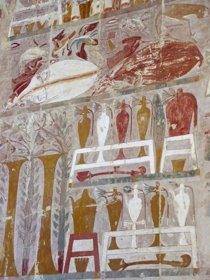 Provisions and Pottery Offered to Gods by Queen Hatshepsut--Giclee Print