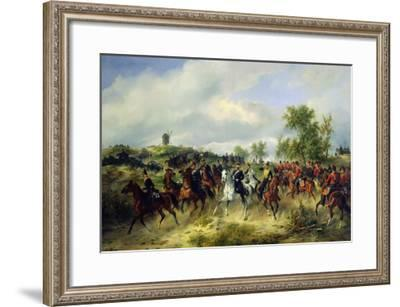 Prussian Cavalry on Expedition, c.19th-Carl Schulz-Framed Giclee Print