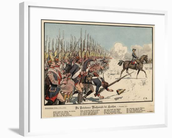 Prussian Infantry at the Battle of Leuthen-Carl Rochling-Framed Giclee Print