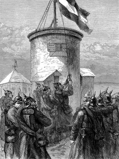 Prussian Troops Hoisting their Flag at Valerien, Franco-Prussian War, 1870-1871--Giclee Print
