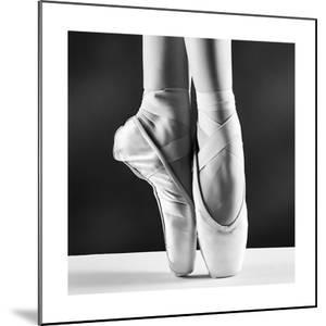 A Photo Of Ballerina'S Pointes On Black Background by PS84
